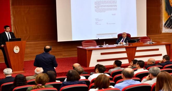 İl Su Yönetimi Koordinasyon Kurulu Toplantısı Vali Karahan BaşkanlığındaGerçekleştirildi