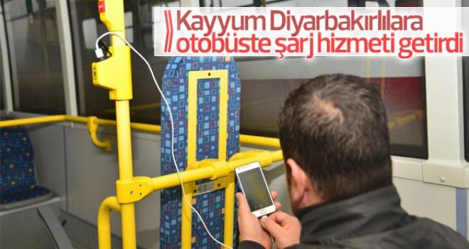 Diyarbakır otobüslerinde ücretsiz internet dönemi