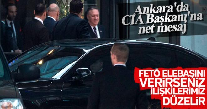 Ankara'da CIA Başkanı Pompeo ile görüşülenler