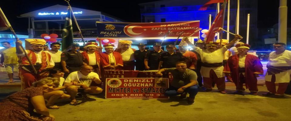 TURİZMCİDEN 30 AĞUSTOS ZAFER BAYRAMINA MEHTERANLI KUTLAMA
