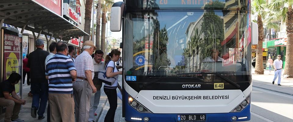 Denizli Büyükşehir otobüsleri KPSS' ye gireceklere ücretsiz